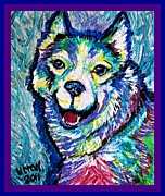 Dog Paintings - Keep Smiling by Pam Utton