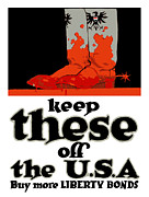 World War One Framed Prints - Keep These Off The USA Framed Print by War Is Hell Store
