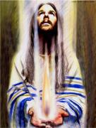 Prayer Shawl Paintings - Keeper Of The Flame by Linda Harris-Iorio