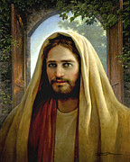 Jesus Framed Prints - Keeper of the Gate Framed Print by Greg Olsen