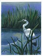 Watching Over Painting Posters - Keeper of the Pond II Poster by Shirley Lawing