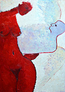 Keeping Her Guardian Angel In Her Hand Print by Ana Maria Edulescu