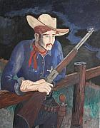 Rifle Painting Originals - Keeping Watch by Frank Parrish
