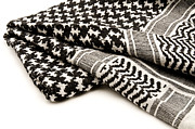 White Background Prints - Keffiyeh Print by Fabrizio Troiani