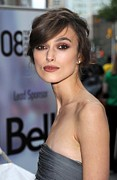 Hair Bun Photo Framed Prints - Keira Knightley At Arrivals For The Framed Print by Everett