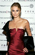 Drop Earrings Metal Prints - Keira Knightley Wearing A Calvin Klein Metal Print by Everett