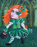 Leprechaun Paintings - Keira the St. Patricks Fairy by Shannon Albright
