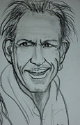 Keith Richards Drawings - Keith 2012 by Pete Maier