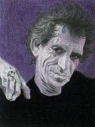 Keith Richards Drawings - Keith by Mike OConnell