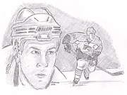 Flyers Hockey Drawings - Keith Primeau by Chris  DelVecchio
