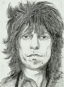 Keith Richards Drawings - Keith Richards by Alison Hayes