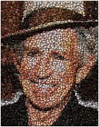 The Rolling Stones Mixed Media - Keith Richards Bottle Cap Mosaic by Paul Van Scott