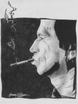 Mick Jagger Drawings - Keith Richards by Jason Kasper