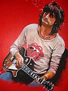 Portrait Artist Painting Originals - Keith Richards by Luke Morrison