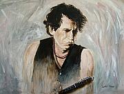 Rolling Stones Posters - keith Richards Poster by Lyndon Stokes