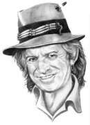 Rolling Stone Drawings - Keith Richards by Murphy Elliott
