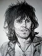 Keith Richards Drawings - Keith Richards by Sean Leonard