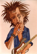 Smoking Drawings Posters - Keith Poster by Rosalyn Stevenson