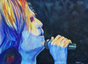 Country Music Keith Urban Posters - Keith Urban in Concert Poster by Susan DeLain