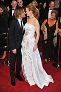 Academy Awards Prints - Keith Urban, Nicole Kidman At Arrivals Print by Everett