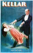Magician Metal Prints - Kellar Levitation Metal Print by Unknown