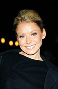 Kelly Photo Framed Prints - Kelly Ripa At Talk Show Appearance Framed Print by Everett