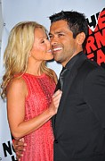 Kelly Photo Framed Prints - Kelly Ripa, Mark Consuelos Framed Print by Everett