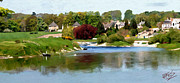 Landscape Digital Paintings - Kelso Junction Pool by James Shepherd