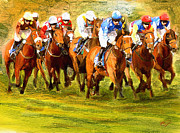 Breeds Digital Art - Kelso Races by James Shepherd