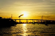 Will Cardoso Metal Prints - Kemah Sunset Metal Print by Will Cardoso