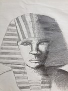 Horus Drawings Metal Prints - Kemetic Man  Metal Print by Brandon King
