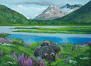Fjord Paintings - Kenai Fjord Alaska by Gene Ritchhart