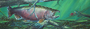 Chinook Salmon Prints - Kenai King Print by Scott Thompson