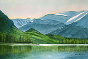 Alaska Painting Posters - Kenai Lake Reflections Poster by Sharon Freeman