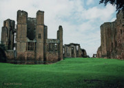 Historic Fortress Digital Art Prints - Kenilworth Castle Ruins Print by DigiArt Diaries by Vicky Browning