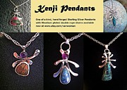 Silver Turquoise Jewelry Acrylic Prints - Kenji Pendants Acrylic Print by Vanessa Williams