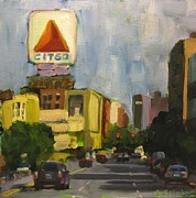 Boston Ma Paintings - Kenmore Square by Laurie G Miller