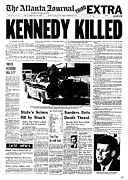 1963 Posters - Kennedy Assassination, 1963 Poster by Granger