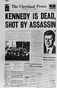 Headlines Framed Prints - Kennedy Assassination Headline Framed Print by Everett