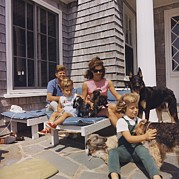 Kennedy Family And Their Many Dogs Print by Everett