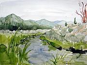 Kennedy Meadows River Print by Amy Bernays