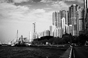 Sea View Art - Kennedy Town Waterfront And Harbour New Praya Hong Kong Hksar China Asia by Joe Fox