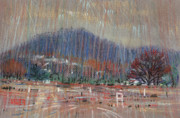 Plein Air Pastels Prints - Kennesaw Construction Site Print by Donald Maier
