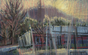 Plein Air Pastels Prints - Kennesaw Industrial Print by Donald Maier