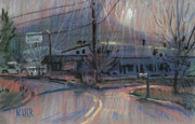 Industrial Pastels Originals - Kennesaws Shadow by Donald Maier
