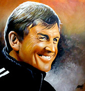 Liverpool Drawings Posters - Kenny Dalglish Portrait Poster by Ramil Roscom Guerra