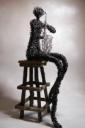 Celebrities Sculpture Originals - Kenny G Wannabe by Charlene White