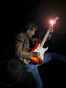 Fender Stratocaster Posters - Kenny Loggins III Poster by Bill Gallagher