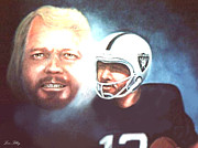 Raiders Paintings - Kenny The Snake Stabler by Loxi Sibley
