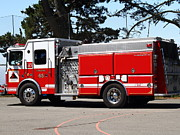 Fighters Photos - Kensington Fire District Fire Engine . 7D15854 by Wingsdomain Art and Photography